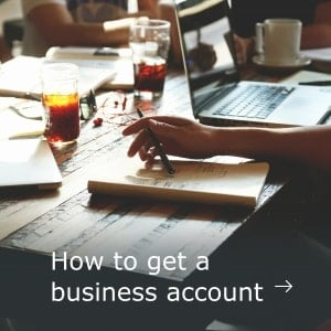 Support how to get a business account desktop